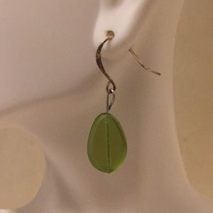 Dangling Glass Bead Earrings